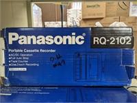 Two Panasonic brand Portable Cassette recorders.