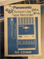 Four Panasonic school use tape recorders.