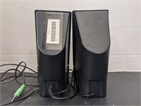 Two pairs of CA brand speakers. Bidding on one