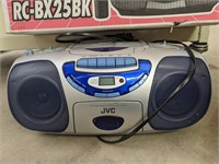 Two CD/ cassette players. JVC model # RC-BX30 and