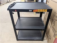 Three tier metal table with built in power