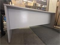 Large desk. 5 drawers. No keys. Keyboard tray.