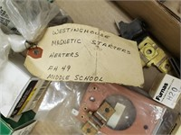 Lot of motor starters, overload heaters, Thermal