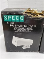 """PA Trumpet Horn 5x8"""" in box. Bid on one times"""