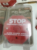 Lot of Fire Extinguisher Alarms and Holders