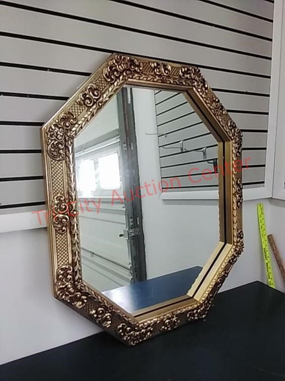 Ornate Gold Framed Mirror 30 X 36 Tri, 30 X 36 Gold Framed Mirror