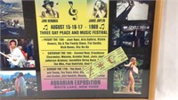 21 x 17 Woodstock  Picture and poster and ticket