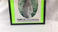 25 x 19 Janis Joplin music poster framed