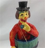 14 inch paper Mâché clown