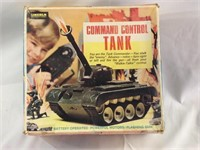 Vintage battery-operated command control tank