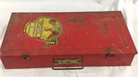 Vintage metal case erector set