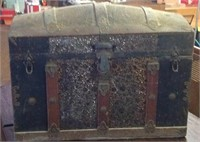 32 x 24 x 18 antique humpback  chest