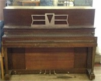 Vintage Working upright piano on wheels