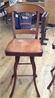 2 vintage swivel stools