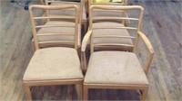 6 mid century modern chairs