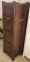 Distinguished 4 drawer wooden filing cabinet