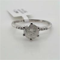 PLATINUM PT950 DIAMOND (0.95CT,I3,H0+0.04CT  RING