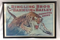 38 x 26 framed Ringling Brothers circus poster