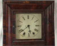 Large 30 x 17 x 5 antique weight drive clock