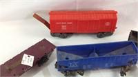 Five vintage Marx train cars