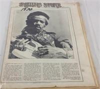 1970 rolling stone magazine Jimi Hendrix