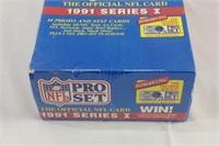 Sealed 1991 NFL pro set cards