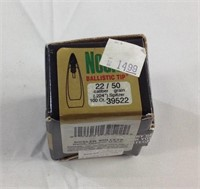 100 Nosler 22 Cal 50 gr bullets for reloading