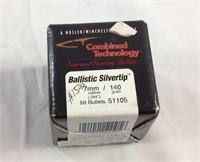 Nosler 7mm ballistic silvertip bullets for