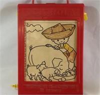 Vintage Colorola coloring box w/extras