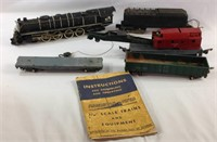 Vintage American flyer trains and cars