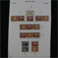 Germany Stamps 2 Pages of Zusammendrucke