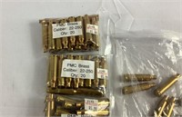 A lot of 22–250 Cal brass for reload
