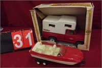 TONKA CAMPER, BOAT AND TRAILER WITH BOX