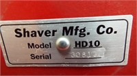 Shaver HD-10 Post Hole Driver, 3 point, vin: