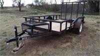 2 wheel trailer, fold down ramp,
