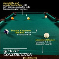 Billiard Table Set with Cues