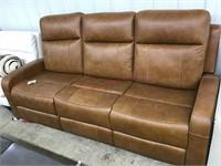 Leather match Manhattan dual reclining motion