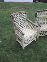Antique Outdoor Chairs, Table / Table, chaises ext