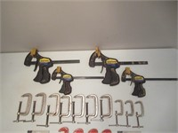 """C & Quick Grips Clamps / Serre-joints 6"""", 3"""", 2"""""""