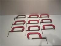 "10 C Clamps / Serre-joints en C - 6"""