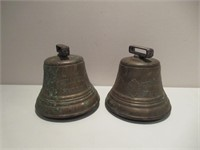 Pair of Brass Bells / Paire cloches en laiton 6""