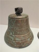"Pair of Brass Bells / Paire cloches en laiton 6"""