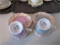 Teacups, Cream, Sugar/ Tasses crèmier, sucrier