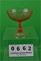 Pink Depression glass bowl large