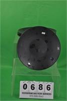 Set of 4 Black floral plates