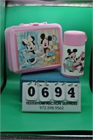 Minnie and Mickey Mouse Lunch Box W/ thermos