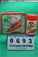 Mickey Mouse Club Lunch Box tin W/ Thermos