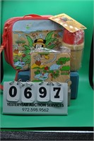 3 Piece Mickey Mouse Safari theme Lunch box
