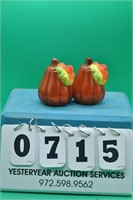 Autumn Gourd salt and pepper shakers