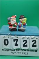 Snow Man & Santa salt & pepper shakers